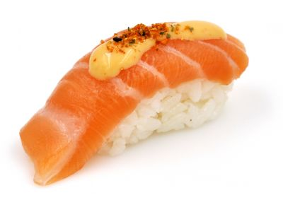 Sushi saumon spicy